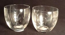 Clear Glass Votive Candle Holders Etched Leaves