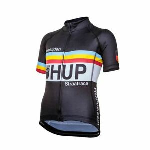 TEAM HUP Kids Short Sleeved Cycling Jersey (6 Junior sizes) for children