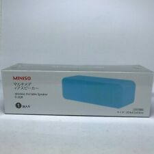 Miniso Bluetooth Wired Wireless Portable Rechargeable Baby Blue Speaker D-82B