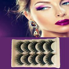 5pairs Long Thick Cross False Eyelashes Full Volume Womens Eye Lashes Makeup New