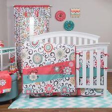 Trend Lab Waverly Pom Play 4 Piece Crib Bedding Set