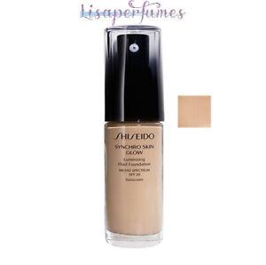 Shiseido Synchro Skin Glow Luminizing Fluid Foundation SPF20 Neutral 3 1oz