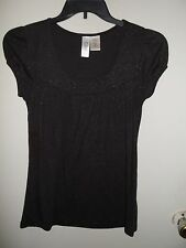 Women's L8ter - Black W/ Metallic Sweater, Top, Blouse - M (Medium)