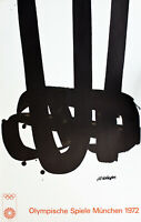 Original Pierre Soulages Lithograph Olympics, Munich, Mid-Century Modern, 1972