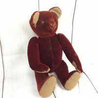 """Unusual Antique Red Teddy Bear. Jointed, Hump, Growler 17"""""""
