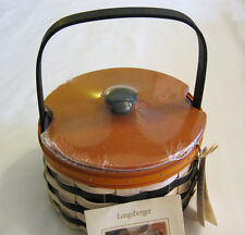Longaberger 2013 Halloween Wicked Witch Sister Basket Protector Lid & Liner Nwt