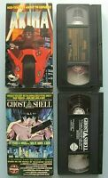 Akira (1989) & Ghost In The Shell (1995) ~ 2 VHS Dubbed Anime Lot TESTED Manga