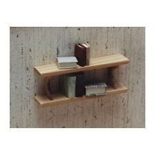 Liebe HANDARBEIT 46018 Wandregal 2 Böden Holz 1:12 für Puppenhaus (0708) NEU! #