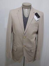 Murano Men's Cotton 2-Button Blazer Coat Jacket Slim Fit Small Khaki Beige $200