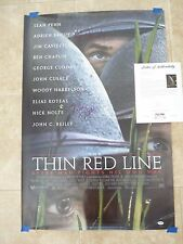 THIN RED LINE BRODY CLOONEY NOLTE  AUTOGRAPHED SIGNED POSTER PSA CERTIFIED