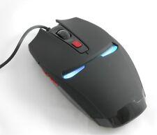 Wired USB Maus Iron Man Design LED Beleuchtung Gaming Büro PC Laptop 2400 DPI