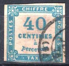 "FRANCE STAMP TIMBRE TAXE N° 7 "" CHIFFRE TAXE 40c BLEU "" OBLITERE A VOIR  P146"