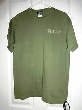 MENS VICTORY POLARIS COTTON TEE T SHIRT BATTLE SKULL GREEN MEDIUM MED M NEW