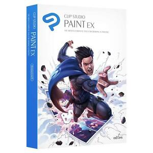 Clip Studio Paint EX Win/Mac - Premium Edition with Bonus Items - New Retail Box