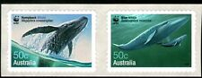 Australia 2006 Whales Self Adhesive strip of 2 Mint Unhinged