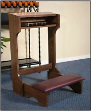 Walnut Stain Maple Hardwood Padded Kneeler
