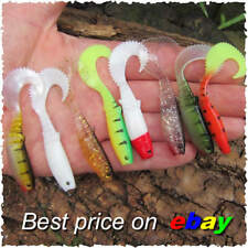 8 Curly Tail Savage soft Cannibal shads Chub Perch Pike lure Bait Drop Shot gear