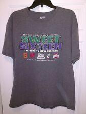 NCAA March Madness 2012 Sweet Sixteen New Orleans T Shirt Men's XL Gray