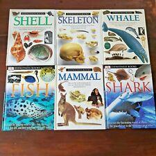 Dk Eyewitness Books Lot Set 6 Mammal Shark Fish Shell Whale Homeschool Library