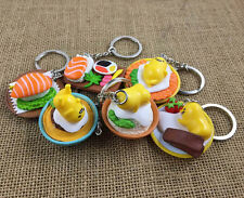 set of 6pcs gudetama salmon  PVC pendant key chain key ring figure cartoon