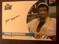 THE SAINT SERIES 2: AUTOGRAPH CARD: PETER WYNGARDE AS TUREN PW2 - BLACK INK