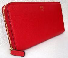 MCM Milla Zip Around Wallet rot 19 cm NEUWERTIG