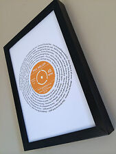 More details for paul weller you do something to me personalised song lyrics print gift wedding