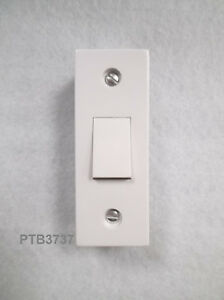 ARCHITRAVE Light Switch 1 Gang (single) White Plastic 10A 1 or 2way With box