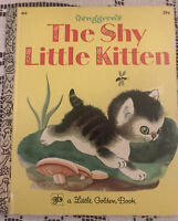 Little Golden Book Tenggren's the Shy Little Kitten 5th Printing 1971 Very Good