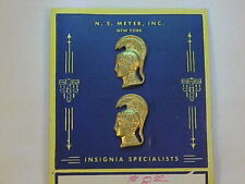 ORIGINAL, RARE & UNISSUED MINT WAC Officer's Collar Insignia On N.S. Meyer Card