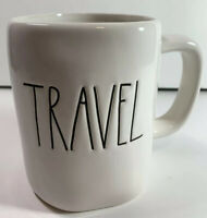 Rae Dunn By Magenta TRAVEL Artisan Coffee Mug Collection Tea Cup New Cream Ivory