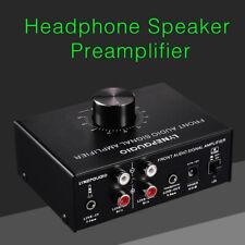 Front Stereo Audio Preamplifier Receiver Mini Pre Amp Dual-Audio Source
