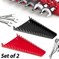 Wrench Organizer 2 Pack Storage Rack Tray Rail Sorter Tool Box 16 Wrench Holder