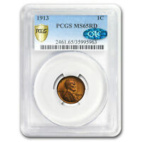 1913 Lincoln Cent MS-65 PCGS CAC (Red) - SKU#176315