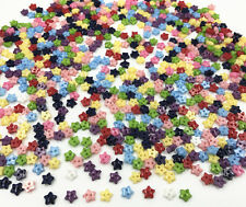 100pcs Mixed Colors star shapes Resin Buttons 2 holes sewing scrapbooking 6mm
