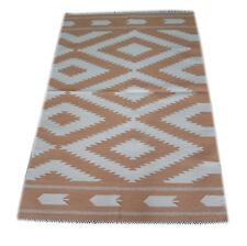 Hand Woven Modern 3X5 Feet Accent Cotton Geometric  Rug