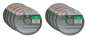 "Lot of 10 MILWAUKEE 49-94-7055 TYPE 1 CUT-OFF WHEEL DISC 7"" x 1/8"" x 5/8"""