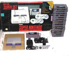 1992 Vintage Super Nintendo Entertainment System (Super Set) & 17 Game Lot