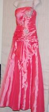 Tiffany Designs Hot Pink One Strap Stoned Gown Long Formal Dress  Size:4