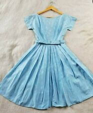 Pretty Vintage Light Blue 50s 60s Party Cocktail Dress - Xs to S