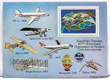 REPÚBLICA Togo Togo AVIACIÓN CIVIL 1985 Yt 233 NUEVA BD89