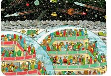 "Where's Wally? novelty postcard. ""In Space"""