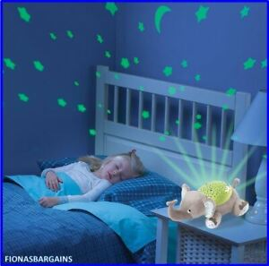 BRAND NEW Baby Slumber Buddies Eddie The Elephant Projector Soother Light 0m+