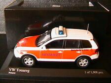 VW VOLKSWAGEN TOUAREG V10 TDI 5.0 2002 NEF NOTARZT MINICHAMPS 400052090 1/43