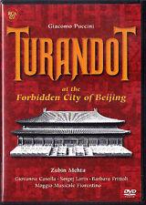 DVD PUCCINI: TURANDOT Barbara FRITTOLI ZHANG YIMOU ZUBIN MEHTA Beijing Larin NEU