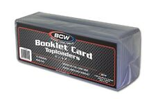 (1) BCW Booklet Card Toploader - Book Card Topload Holders 7 3/8 x 2 1/2 Case