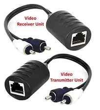 2-Channel Composite RCA Video Balun Extender Over Cat5 Cat5E Cat6 Cable