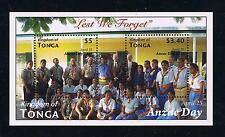 Tonga Anzac Day --- Scouting Stamp Souvenir Sheet