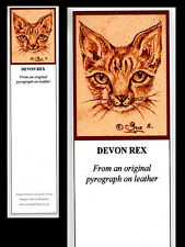 Devon Rex Cat Laminated Bookmark - Print from Original Animal Art