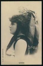 Verena Theater theatre Edwardian Lady original old c1900-1910s photo postcard